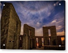 Acrylic Print featuring the photograph Orion Over Stonehenge Memorial by Cat Connor