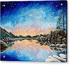 Orion Over Tahoe Winter Acrylic Print
