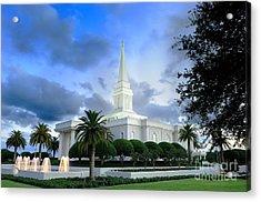 Orlando Lds Temple Acrylic Print