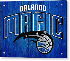 Orlando Magic Graphic Barn Door Acrylic Print by Dan Sproul