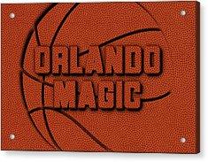 Orlando Magic Leather Art Acrylic Print by Joe Hamilton