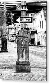Orleans Street One Way Acrylic Print