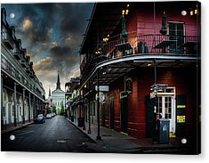 Orleans Street To St Louis Cathedral Acrylic Print