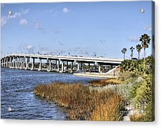 Ormond Beach Bridge Acrylic Print by Deborah Benoit