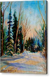 Ormstown Quebec Winter Road Acrylic Print by Carole Spandau