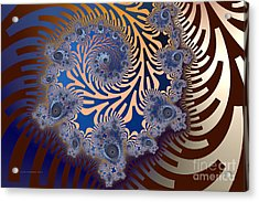 Acrylic Print featuring the digital art Ornamental by Karin Kuhlmann
