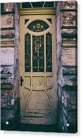Ornamented Doors In Light Brown Color Acrylic Print