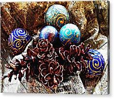 Ornaments 6 Acrylic Print by Sarah Loft