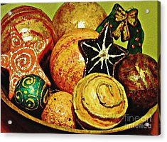 Ornaments Acrylic Print by Sarah Loft
