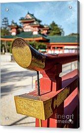 Ornate Details O Heian Jingu Shrine In Kyoto Acrylic Print
