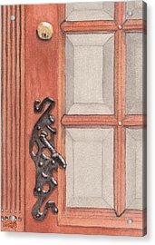 Ornate Door Handle Acrylic Print by Ken Powers