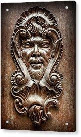 Ornate Door Knocker In Valencia  Acrylic Print by Carol Japp