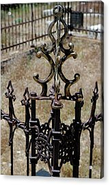 Ornate Iron Works Virginia City Nv Acrylic Print by LeeAnn McLaneGoetz McLaneGoetzStudioLLCcom