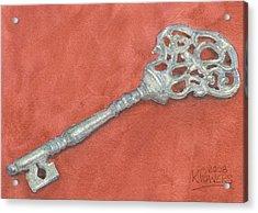 Ornate Mansion Key Acrylic Print by Ken Powers