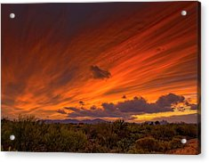 Acrylic Print featuring the photograph Oro Valley Sunset H6 by Mark Myhaver