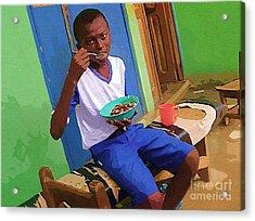 Orphan Boy Acrylic Print by Deborah Selib-Haig DMacq