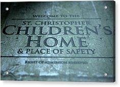 Orphanage Signage Acrylic Print