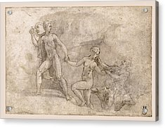 Orpheus' Fruitless Attempt To Recover Eurydice From Hades Acrylic Print
