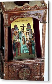 Orthodox Icon Acrylic Print by John Rizzuto