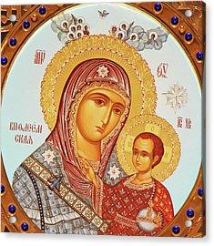 Orthodox Icon Acrylic Print by Munir Alawi