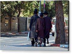 Orthodox Jews In Jerusalem Acrylic Print by Susan Heller