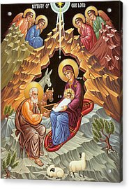 Orthodox Nativity Scene Acrylic Print by Munir Alawi