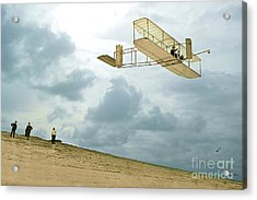 Orville Wright Soars Above Kill Devil Hill Acrylic Print