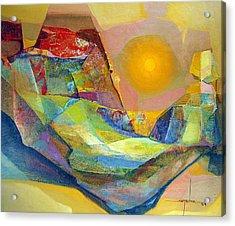 Os1959bo005 Abstract Landscape Potosi 22.75x18.5 Acrylic Print by Alfredo Da Silva
