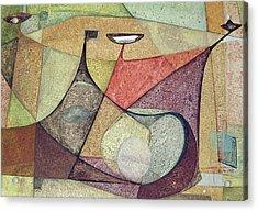 Os1960ar001ba Abstract Design 16.75x11.5 Acrylic Print by Alfredo Da Silva