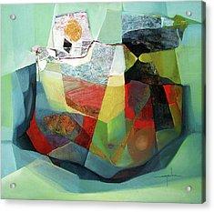 Os1976ar001ba Cosmic Shapes  25x29.5 Acrylic Print by Alfredo Da Silva