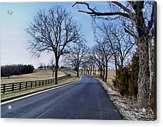 Acrylic Print featuring the photograph Osage County Road by Cricket Hackmann
