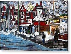 Osborne Village-winnipeg Acrylic Print by Debora Cardaci