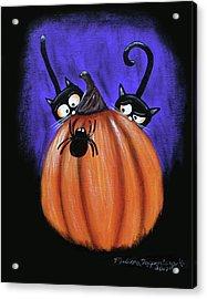 Oscar And Matilda - A Spider Oh Heck No Acrylic Print
