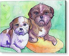 Oscar And Max Acrylic Print