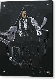Acrylic Print featuring the painting Oscar Peterson by Richard Le Page