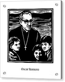 St. Oscar Romero - Jlosc Acrylic Print