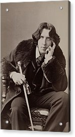 Oscar Wilde, 1854-1900 Irish Writer Acrylic Print by Everett