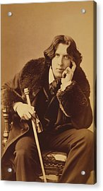 Oscar Wilde - Irish Author And Poet Acrylic Print by War Is Hell Store