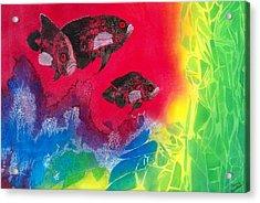 Oscars In Aquarium Acrylic Print by Terry Honstead