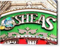 O'sheas Las Vegas Acrylic Print by John Rizzuto