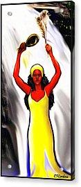 Oshun -goddess Of Love -4 Acrylic Print by Carmen Cordova