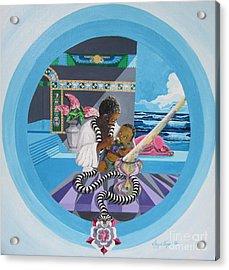 Blaa Kattproduksjoner             Osiris Feeding His Son Horus Acrylic Print