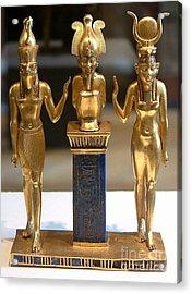 Osiris Horus And Isis Acrylic Print by Frederick Holiday