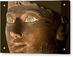 Osiris Statue Face Of Hatshepsut Acrylic Print by Kenneth Garrett