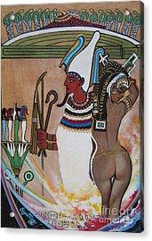 Blaa Kattproduksjoner         Osiris With Goddess Isis And 4 Grandkids Acrylic Print