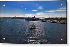 Oslo Fjord From The Roof Of The National Opera House Acrylic Print