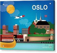Oslo Norway Horizontal Scene Acrylic Print