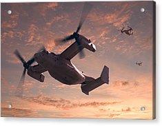 Ospreys In Flight Acrylic Print by Mike McGlothlen