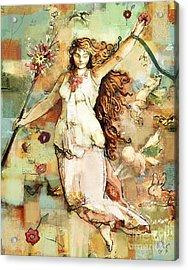 Acrylic Print featuring the mixed media Ostara by Carrie Joy Byrnes
