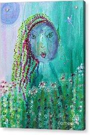 Acrylic Print featuring the painting Ostara by Julie Engelhardt
